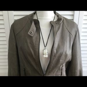Max Edition Faux Leather Jacket